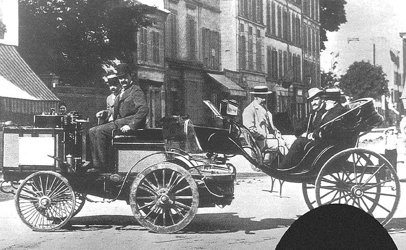 Photo of de Dion Bouton in Paris Race of 1894