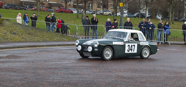 MG MIdget Rallying