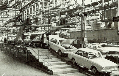 Picture of car factory 1960s