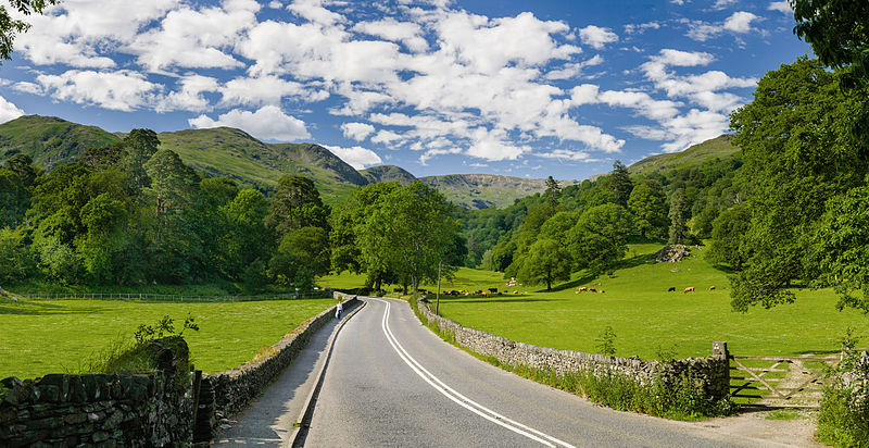 Photo of the A591 through Lake District