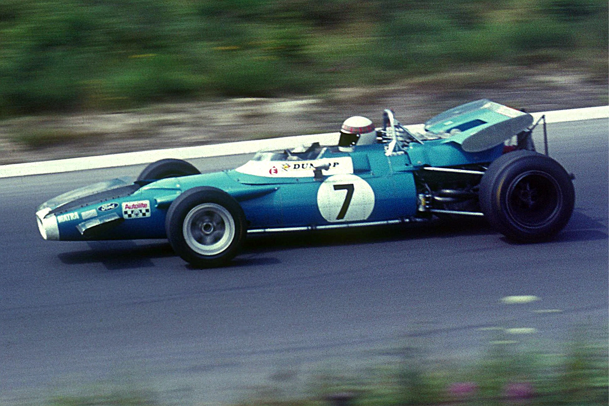Photo of Jackie Stewart racing at Goodwood