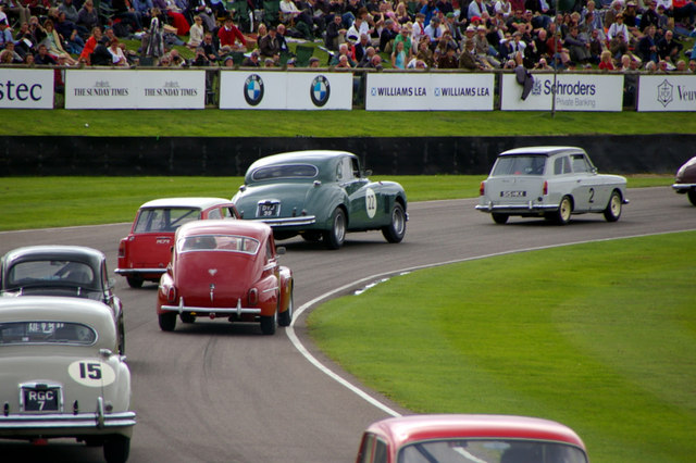 Photo of classic cars racing at Goodwood