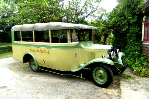This vintage Chevrolet 14 seater coach was a prequel to the Bedford commerical vehicle range